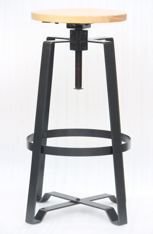 Mixed material adjustable bar stool 2431802 reservation seating - Screw top bar stools ...