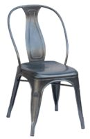 Industrial Charcoal dining chair