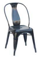 Black Steel Industrial Dining Chair
