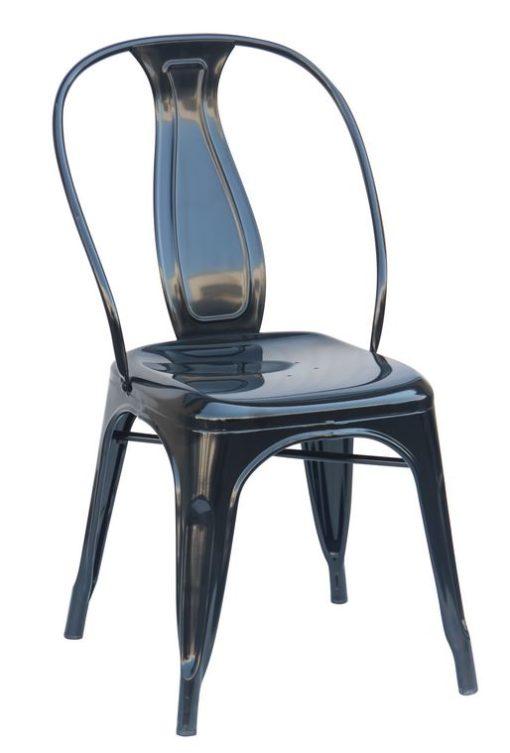 Black Steel Industrial Dining Chair