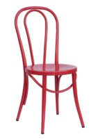 Bistro Steel Dining Chair in Red