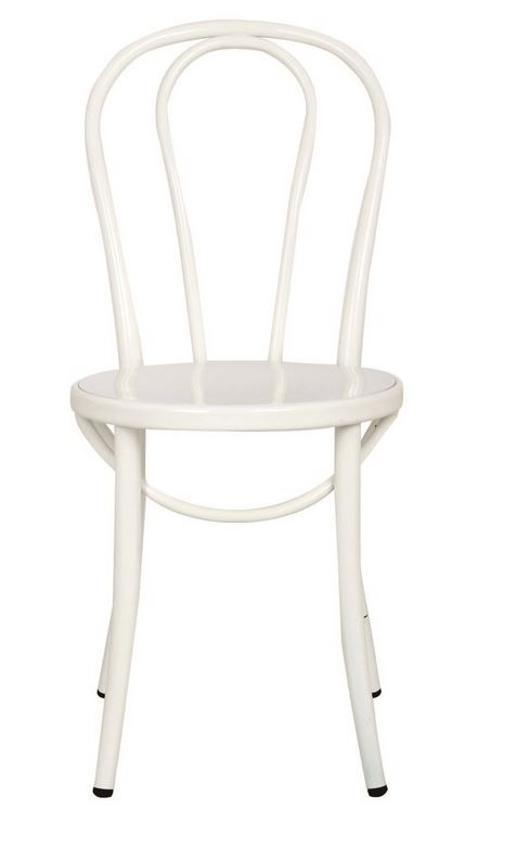 Bistro dining chair in white