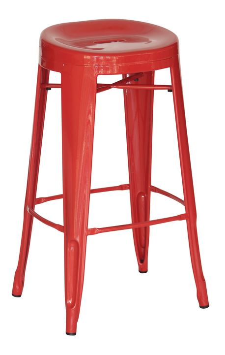 Red Contoured 29″ Bar Stool (2431104)