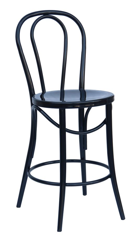 Bistro 24″ Counter Stool: Black (2411402)